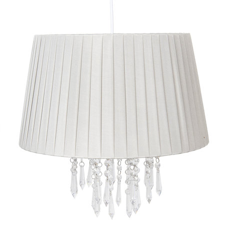 Hanglamp ø 40*38 cm E27/max 1*60W Zilverkleurig | 6LAK0463ZI | Clayre & Eef