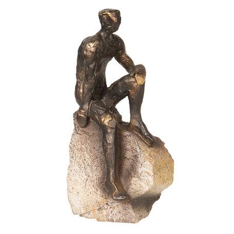 Decoratie figuur 11*9*22 cm Bruin | 6PR2482 | Clayre & Eef
