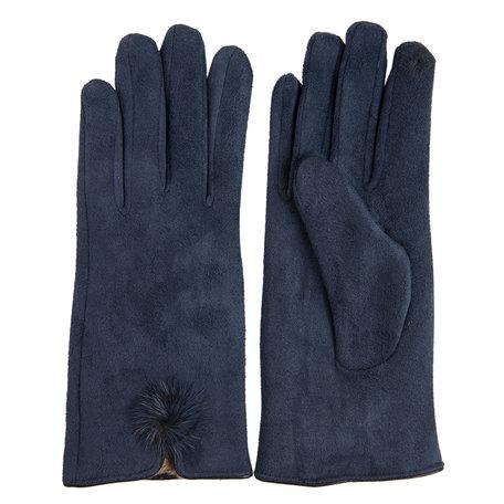 Handschoenen 8*24 cm Blauw | MLGL0018BL | Clayre & Eef