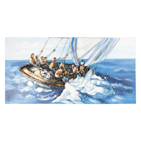 Wanddecoratie zeilboot 120*5*60 cm Multi | 5WA0160 | Clayre & Eef