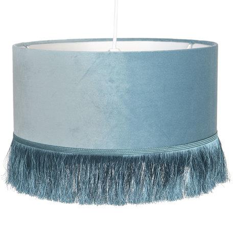 Hanglamp ø 35*25 cm E27/max 1*60W Blauw | 6LAK0464BL | Clayre & Eef