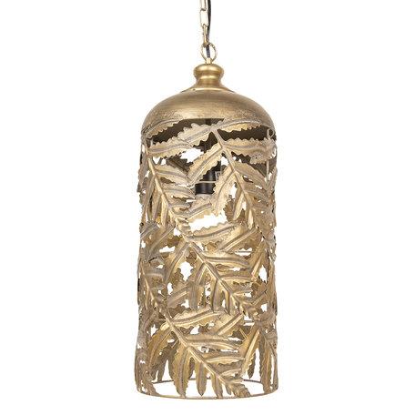 Hanglamp ø 23*56 cm E27/max 1*40W Bruin | 6LMP617 | Clayre & Eef