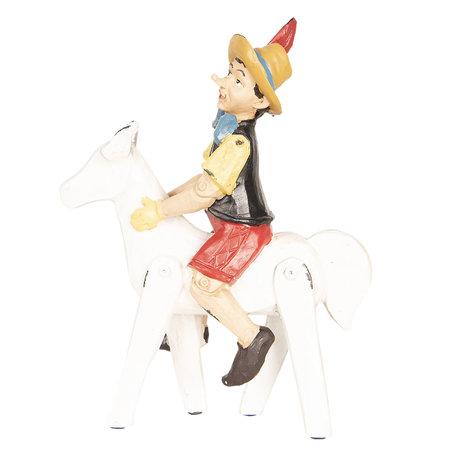 Decoratie figuur Pinokkio 21*8*27 cm Meerkleurig | 6PR2450 | Clayre & Eef