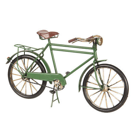 Model fiets 31*10*17 cm Groen   FI0015   Clayre & Eef