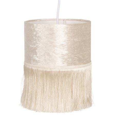 Hanglamp ø 20*26 cm E27/max 1*60W Creme | 6LAK0465 | Clayre & Eef