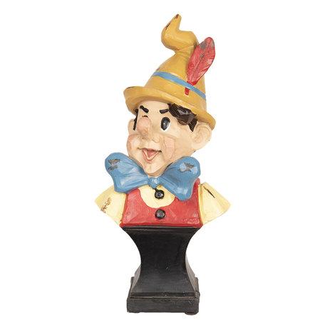 Decoratie figuur Pinokkio 11*8*24 cm Meerkleurig | 6PR2449 | Clayre & Eef