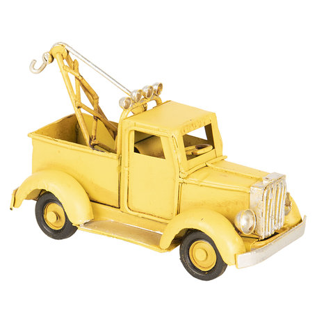 Model takelwagen 12*5*6 cm Geel   6Y2966   Clayre & Eef