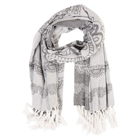 Sjaal 90*170 cm Grijs | JZSC0423 | Clayre & Eef