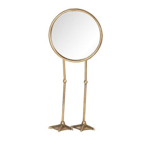 Spiegel 20*10*47 cm Goudkleurig   62S160   Clayre & Eef