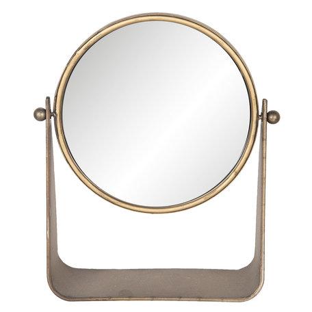 Spiegel 30*10*36 cm Goudkleurig   62S161   Clayre & Eef