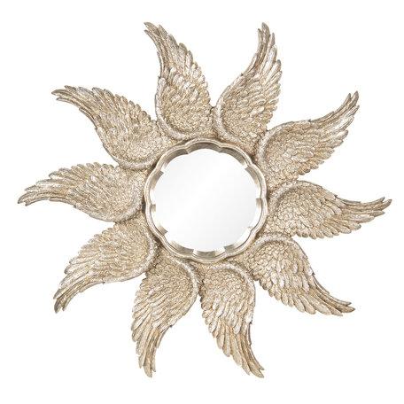 Spiegel ø 45*3 cm Goudkleurig | 62S166 | Clayre & Eef
