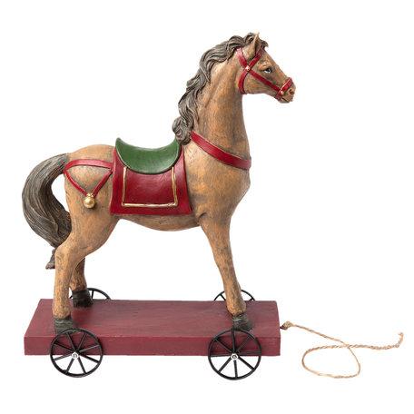 Paard op wielen 22*10*30 cm Meerkleurig | 6PR1198 | Clayre & Eef