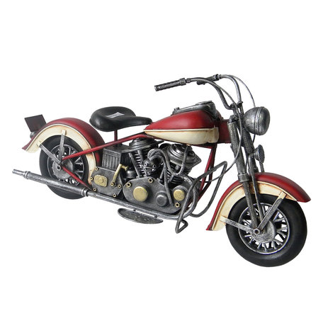 Model motorfiets 37*13*19 cm Rood   JJMO0012   Clayre & Eef