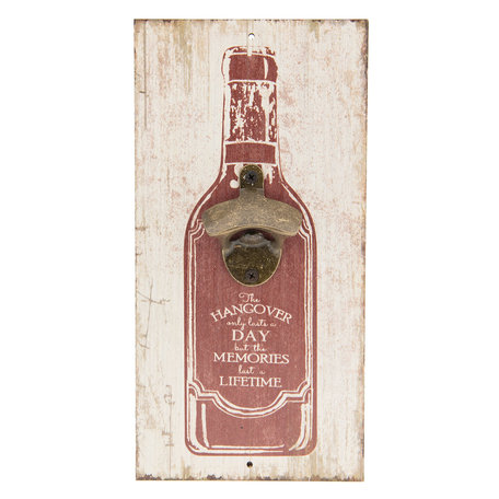 Flessenopener / Tekstbord 15*30 cm Meerkleurig | 6H1716 | Clayre & Eef