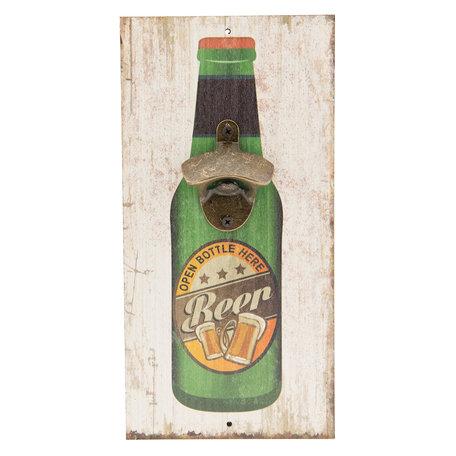 Flessenopener / Tekstbord 15*30 cm Meerkleurig | 6H1718 | Clayre & Eef