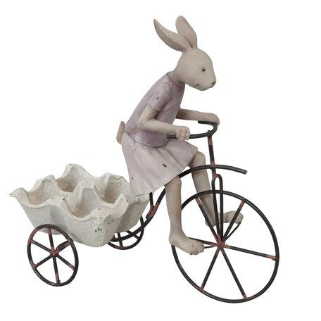Decoratie konijn 26*11*24 cm Creme | 6PR0313 | Clayre & Eef