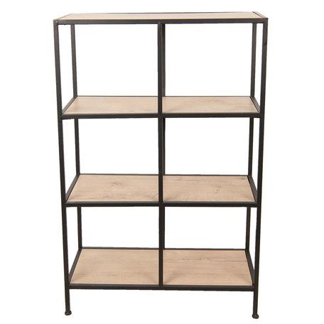 Kast metaal en hout 60*25*90 cm Bruin | 50375 | Clayre & Eef