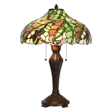 Tafellamp Tiffany ø 40*60 cm E27/max 2*60W Meerkleurig | 5LL-5971 | Clayre & Eef