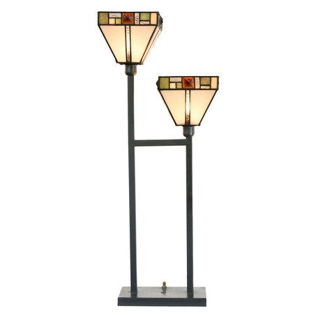 Tafellamp Tiffany 28*15*70 cm E14/max 2*40W Meerkleurig | 5LL-5972 | Clayre & Eef