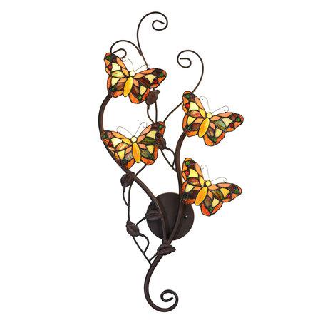 Wandlamp Tiffany 32*8*68 cm G4 LED /max 4*2W Meerkleurig | 5LL-5979 | Clayre & Eef