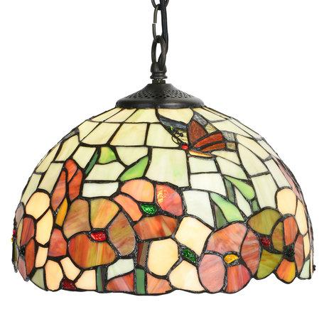 Hanglamp Tiffany ø 30*20/120 cm E27/max 1*60W Meerkleurig | 5LL-5980 | Clayre & Eef