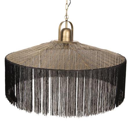 Hanglamp 90*90*60/165 cm E27/max 1*40W Goudkleurig | 5LMP279 | Clayre & Eef