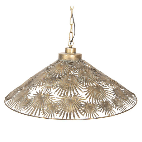 Hanglamp 61*6*51/156 cm E27/max 1*40W Goudkleurig | 5LMP281 | Clayre & Eef