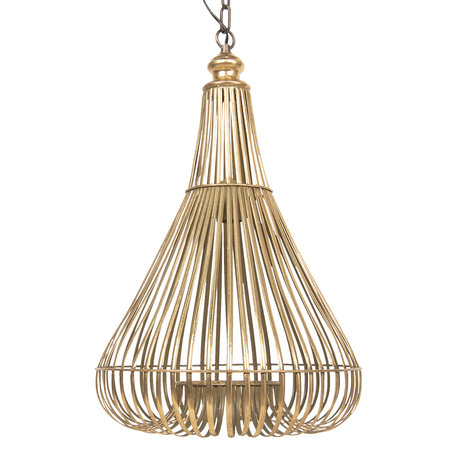 Hanglamp ø 42*63 cm E27/max 1*60W Koperkleurig | 5LMP284 | Clayre & Eef
