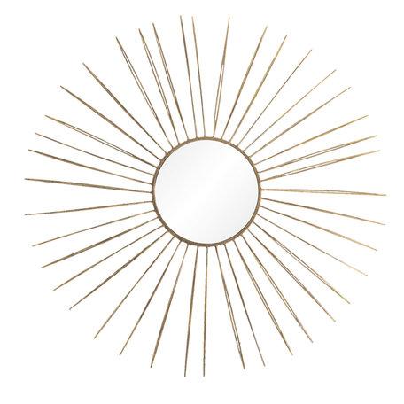 Wanddecoratie met spiegel ø 81*6 cm Goudkleurig | 5Y0617 | Clayre & Eef