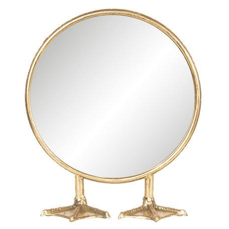 Spiegel 25*9*30 cm Goudkleurig   62S159   Clayre & Eef