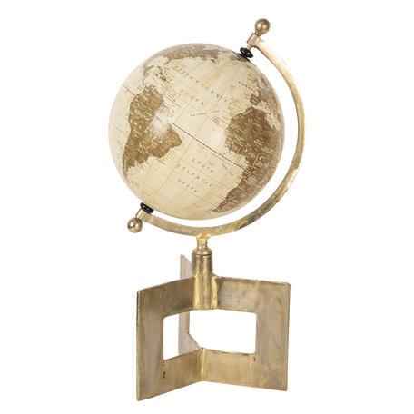 Wereldbol/globe 24*20*42 cm Meerkleurig | 64188 | Clayre & Eef