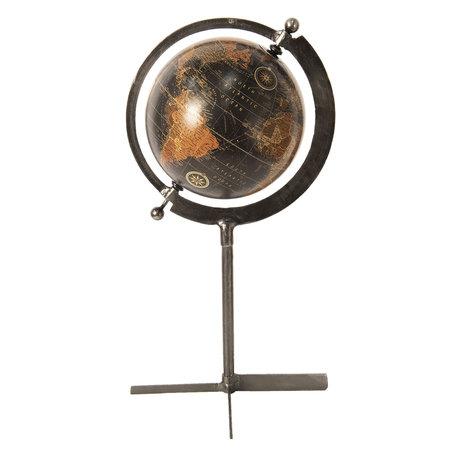 Wereldbol/globe 28*28*50 cm Bruin | 64190 | Clayre & Eef