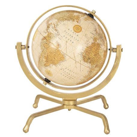 Wereldbol/globe 29*29*31 cm Meerkleurig | 64193 | Clayre & Eef