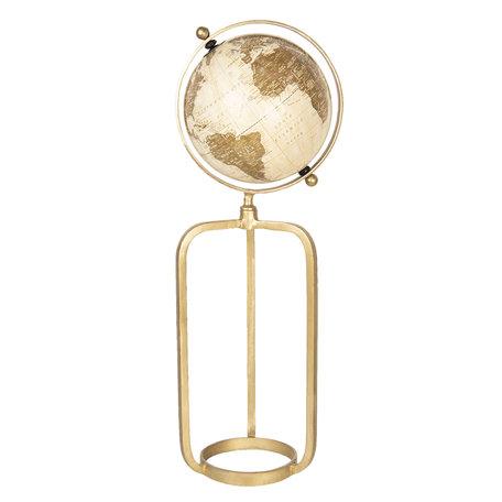 Wereldbol/globe 23*20*63 cm Beige | 64194 | Clayre & Eef
