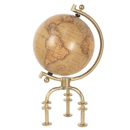 Wereldbol/globe 23*20*40 cm Bruin | 64195 | Clayre & Eef