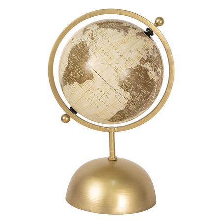 Wereldbol/globe 24*20*37 cm Beige | 64196 | Clayre & Eef