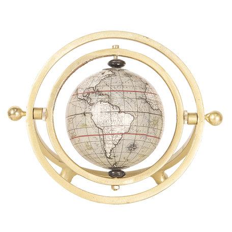 Wereldbol/globe 21*10*15 cm Beige | 64197 | Clayre & Eef