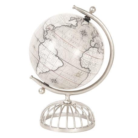 Wereldbol/globe 22*20*36 cm Grijs | 64198 | Clayre & Eef