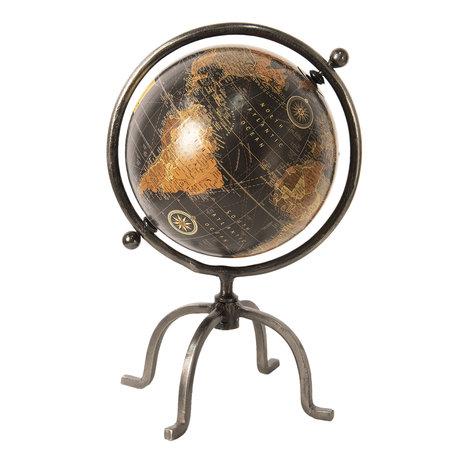 Wereldbol/globe 25*25*37 cm Bruin | 64200 | Clayre & Eef