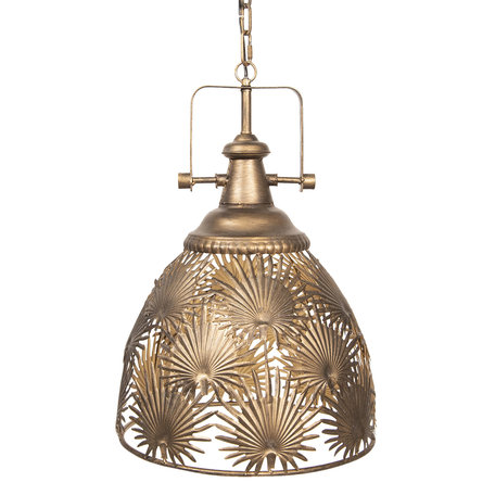 Hanglamp 41*41*54/164 cm E27/max 1*40W Goudkleurig | 6LMP612 | Clayre & Eef