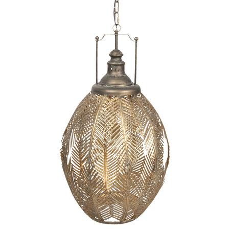 Hanglamp 45*45*77/186 cm E27/max 1*40W Goudkleurig | 6LMP613 | Clayre & Eef