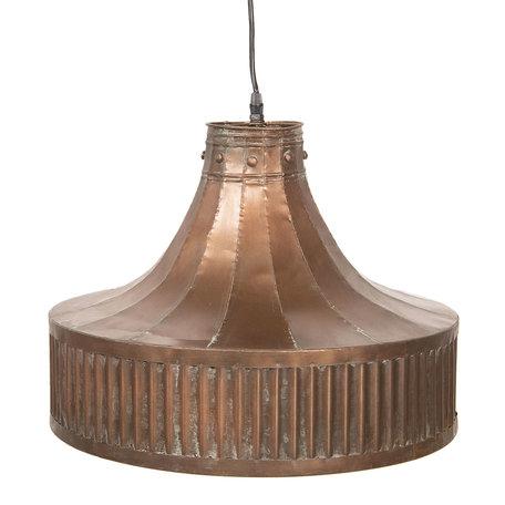 Hanglamp 44*44*42/147 cm E27/max 1*40W Koperkleurig | 6LMP614 | Clayre & Eef