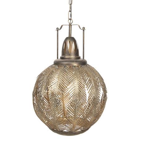 Hanglamp 45*45*70/175 cm E27/max 1*40W Goudkleurig | 6LMP616 | Clayre & Eef