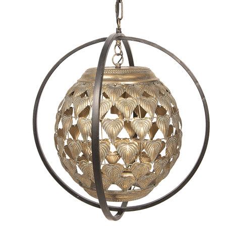 Hanglamp 36*36*55/160 cm E27/max 1*40W Goudkleurig | 6LMP620 | Clayre & Eef