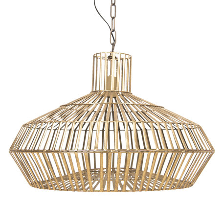 Hanglamp ø 60*45 cm E27/max 1*60W Goudkleurig | 6LMP623 | Clayre & Eef