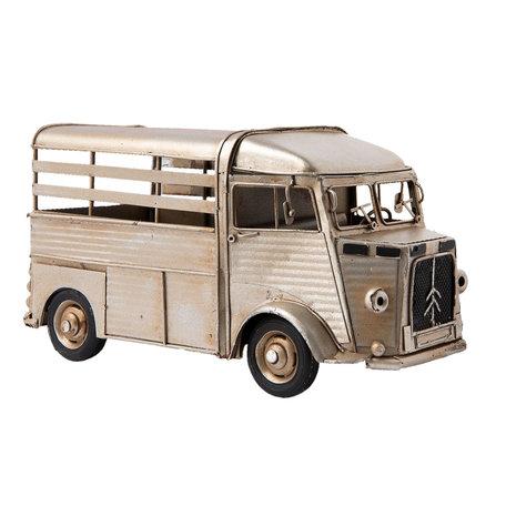 Model auto 25*12*13 cm Zilverkleurig   6Y2464   Clayre & Eef