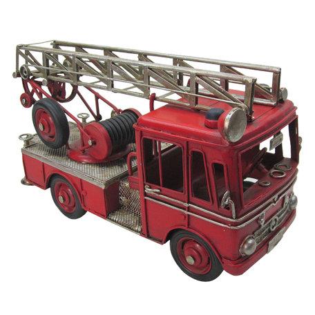 Model brandweerauto 25*11*14 cm Rood   JJBR0001   Clayre & Eef