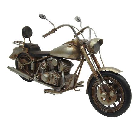 Motorfiets 29*10*15 cm Geel   JJMO0001   Clayre & Eef