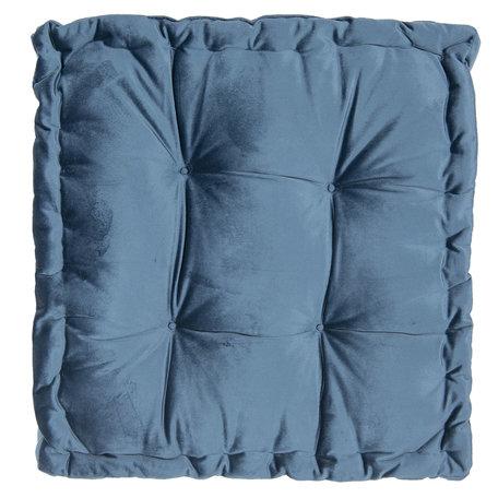Kussen met foam 45*45*8 cm Blauw | KT029.040BL | Clayre & Eef