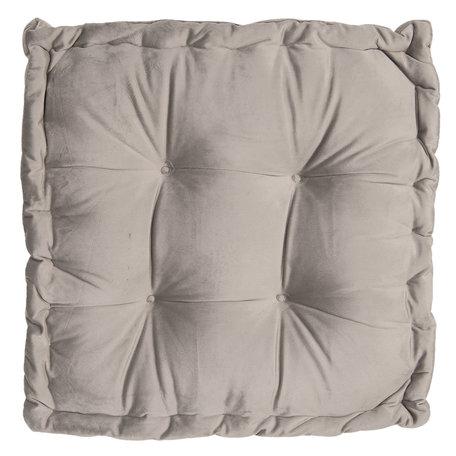 Kussen met foam 45*45*8 cm Grijs | KT029.040G | Clayre & Eef